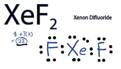 Draw the Lewis Structure for the following molecule: XeF2
