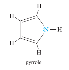 Draw the structure of pyrrole