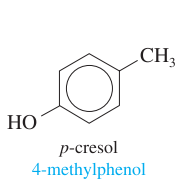 one methyl + one hydroxy group + benzene; para positioning