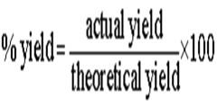 percent yield =