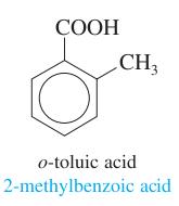 toluene + acetyl group; ortho positioning